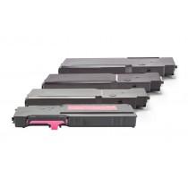 Alternativ zu Dell 593-BBBQ - 593-BBBR / Y5CW4 Toner Spar-Set 4 Stk. (Schwarz, Cyan, Magenta, Gelb)