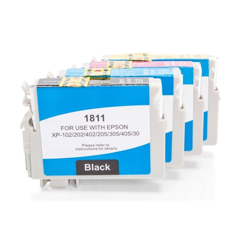 Alternativ zu Epson C13T18164010 / 18 XL Tinten Spar-Set CMYK (4 Stück)