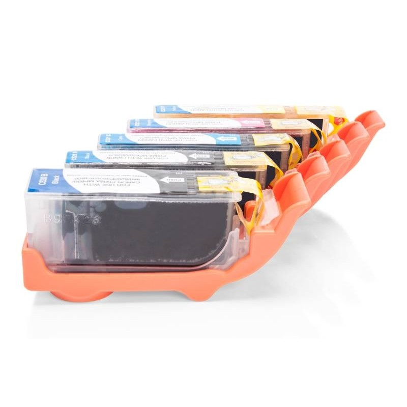 Alternativ zu Canon CLI-521 Tinten Spar-Set (FBK,BK,C,M,Y,) 5 Stk.