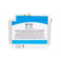 Alternativ zu Epson C13T07124010 / C13T07124012 / T0712 Tinte Cyan