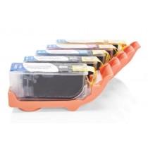 Alternativ zu Canon CLI-521 Tinten Spar-Set (FBK,BK,C,M,Y,) 5 Stk. mit Chip