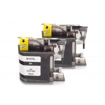 Alternativ zu Brother LC-127 XL BK Tinten Doppelpack Black mit Chip