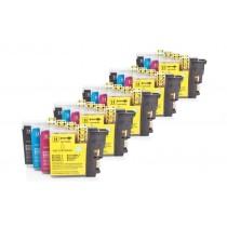 Alternativ zu Brother LC-1100 Tinten Spar-Set (je 5 x BK,C,M,Y) 20 Stück