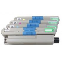 Alternativ zu OKI 44469804 - 44469722 Toner Spar-Set (BK,C,M,Y) 4 Stück