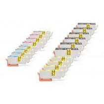 Alternativ zu Epson C13T26364010 / C13T26364012 / 26 XL Multipack (6xBK, je 4xC,M,Y) 18 Stück
