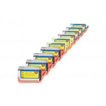 Alternativ zu HP Nr. 920 XL Spar-Set (4x BK, je 2x CMY) 10Stück