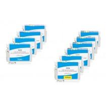 Alternativ zu Epson C13T16364010 / C13T16364012 / T1636 Tinten Multipack (C,M,Y,K) 10 Stück